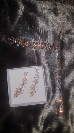 Biżuteria ślubna różowe złoto