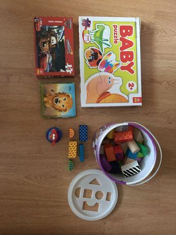 Zabawki - zestaw, do kąpieli, puzzle, klocki