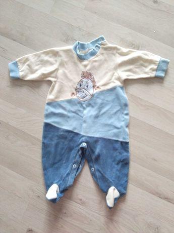 Pajac piżama 68 welurowy dla chłopca i dziewczynki