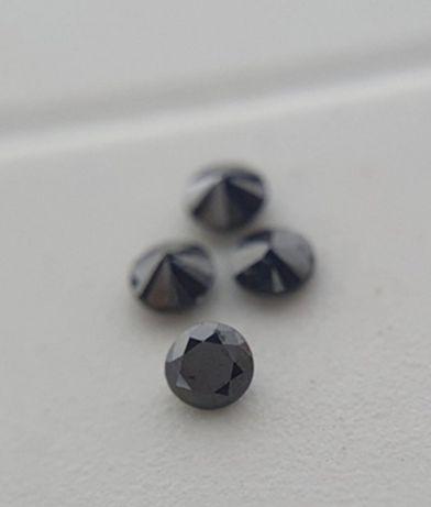 Природные черные бриллианты 1,25 мм 4 штуки