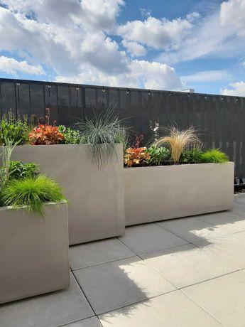 Donica imitacja betonu ,donice na wymiar ,ogrodowe , mrozoodporne