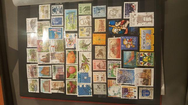 Zestaw 52 szt znaczki pocztowe