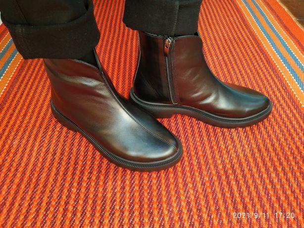Кожаные сапожки, ботинки 40р.