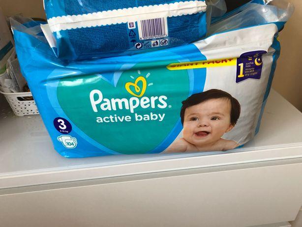 Pampers active baby 3, 104 sztuki