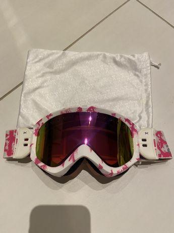 Gogle damskie Anon Burton różowo białe malo noszone
