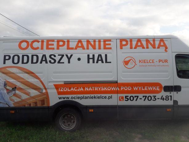 CELULOZA i PIANA ocieplenie poddasza,stropodachów Busko-Zdrój i okolic
