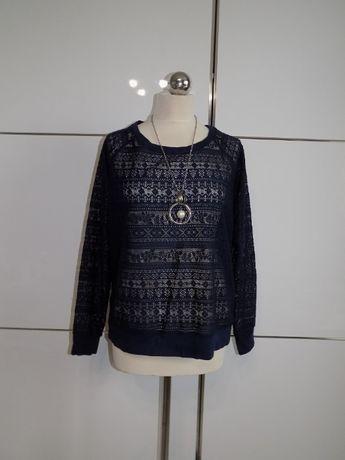 Granatowa ażurowa bluza L/XL C&A Jessica , nr135