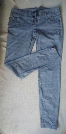 Szare spodnie w kratkę Stradivarius rozmiar 38
