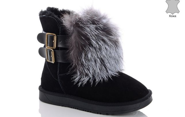 ПОСЛЕДНИЕ. Угги, Ugg, кожа, натуральный мех, сапоги, ботинки, зима
