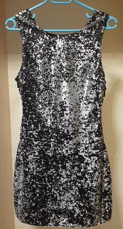 Платье с пайетками 44р