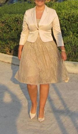 Koronkowa Sukienka + Żakiet . Rozmiar XL