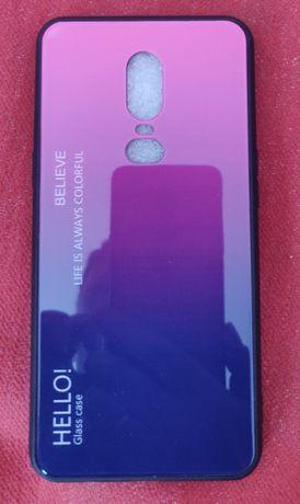 Чехол на телефон One plus6 стекло