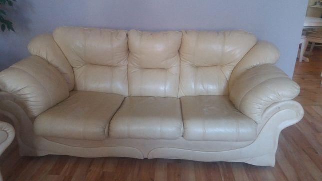 Zestaw sofa + fotel skóra !!! Polecam !!!