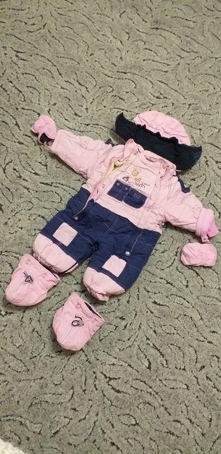 Зимний детский комбинезон дитячий зимовий комбiнезон
