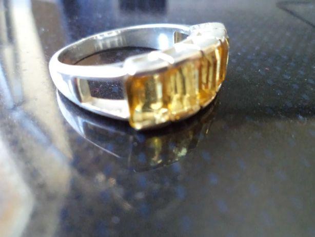 Pierścionek srebrny z bagietami r.12,5