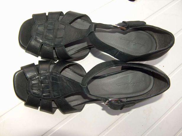 skórzane sandałki Footglove = rozmiar duże 41 = uk7,5 wkładka 27cm