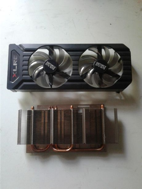 Система охлаждения для видеокарты PNY GTX 1070 XLR8 Twin Fan