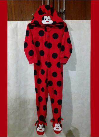 Чудесный флисовый слип, пижама на 2-3г, р.92-100см