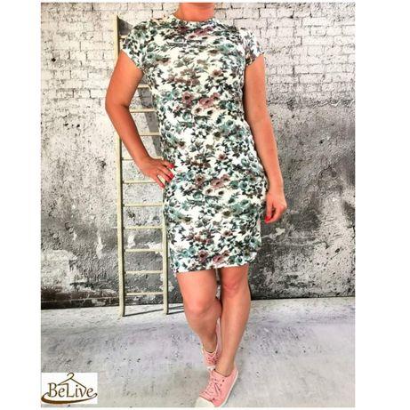 PRZECENA Sukienka w kwiatowy print S/M