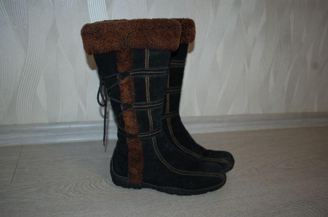 Сапожки чоботи Baden 38 25,5 см замша цигейка