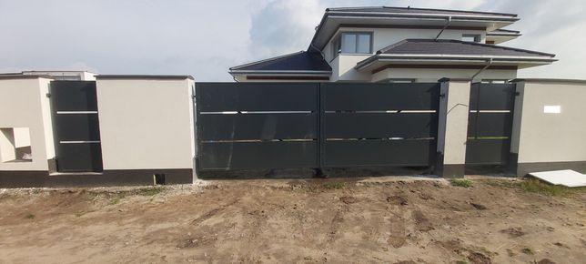 PRODUCENT BRAM przesowne skrzydłowe przemyslowe panelowe przęsła ploty