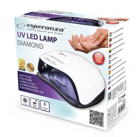 Lampa UV LED do paznokci lakieru hybrydowego hybrydy MOCNA 80W NOWA