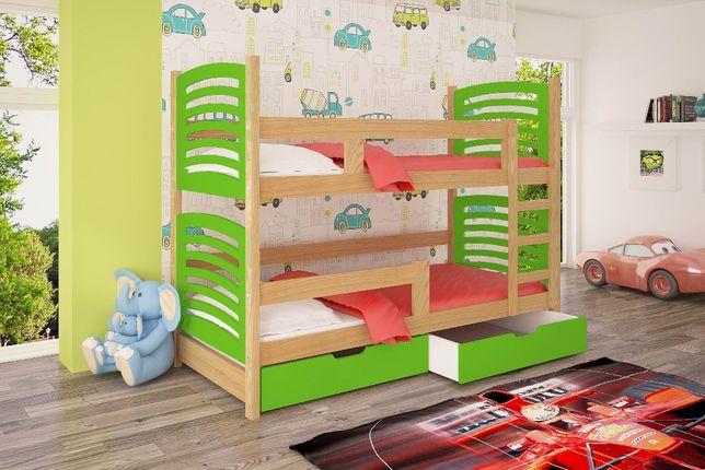 Piętrowe sosnowe łóżko Olek! Dwu osobowe+szuflady!
