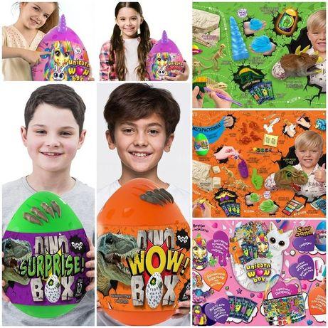 Яйцо набор для творчества Danko Toys Unicorn Dino WOW Box 15 и 20 сюр