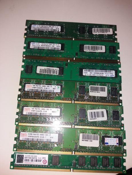 Оперативна пам'ять Samsung DDR2 512 mb, Samsung DDR2 1Gb, hynix 1Gb
