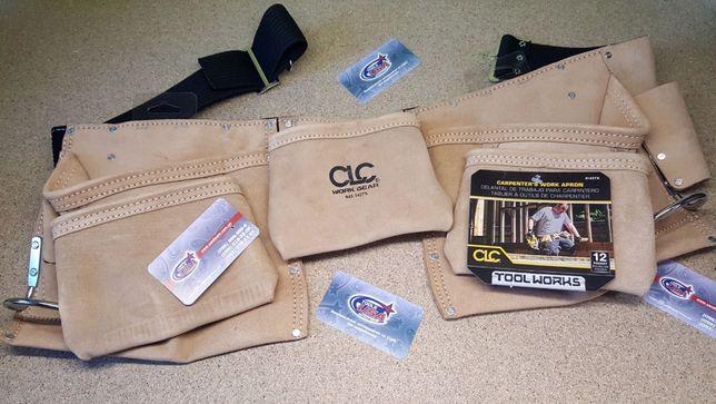 Кожаный пояс премиум класса на 12 карманов CLC dewalt makita milwaukee
