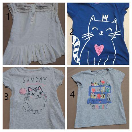 Paka ubrań dla dziewczynki r. 116 ( 17 szt ) bluzki, sukienki