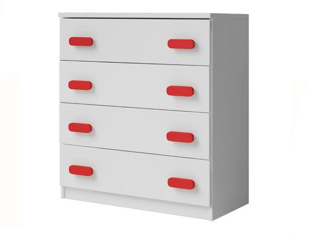 Mała biała komoda z szufladami do pokoju dziecięcego 80 cm