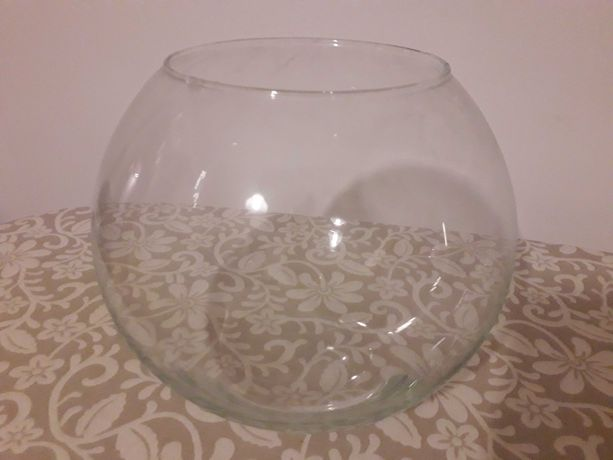 Kula szklana akwarium dla bojownika rybka duża