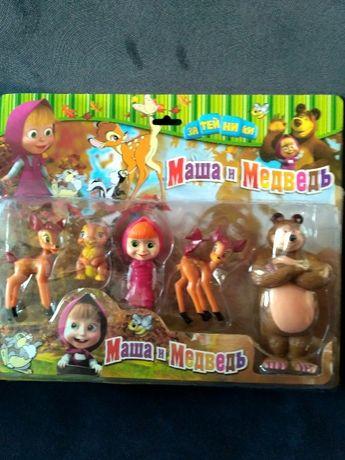 Figurki Masza i Niedźwiedź 5szt nowe okazja