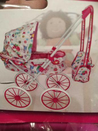 Wózek dla lalek. Duże koła , torba na akcesoria. Nowy !!!
