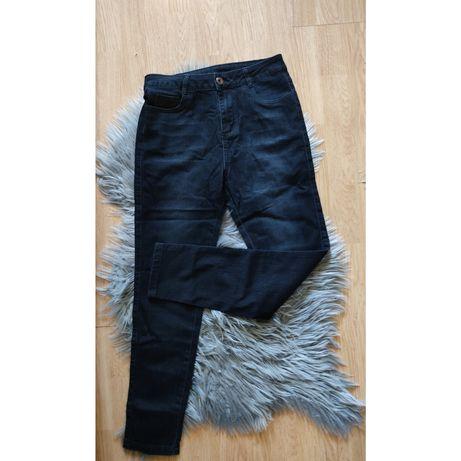 Czarne spodnie damskie jeans jeansy rurki 38 nowe wysoki stan nowe M