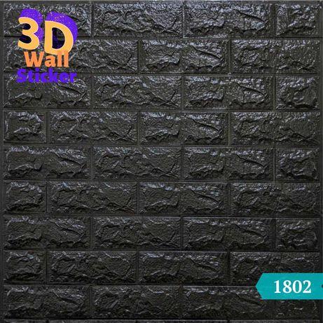 Стеновые 3D панели самоклеющиеся обои stickerwall кирпичик 700х770х8мм