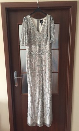 Suknia  ślubna kolor srebrny + opaska ślubna
