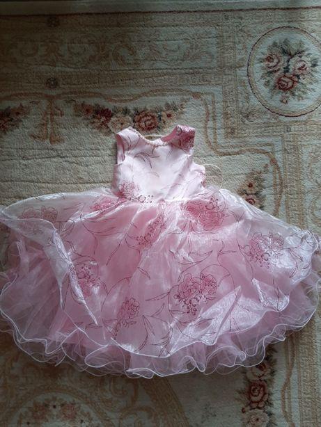 Бальное нарядное детское платье для девочки