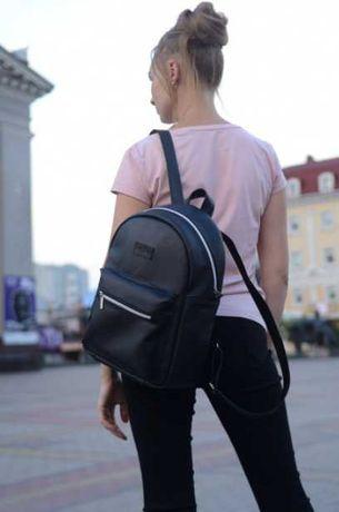 Без предоплаты! Черный рюкзак женский, подростковый, для девочки, кожа