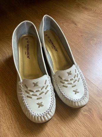 Женские туфли мокасины кожа 38р.