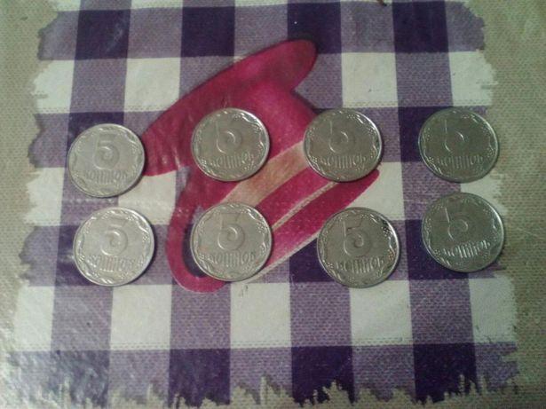 Продам монеты 5 коп 1992 г