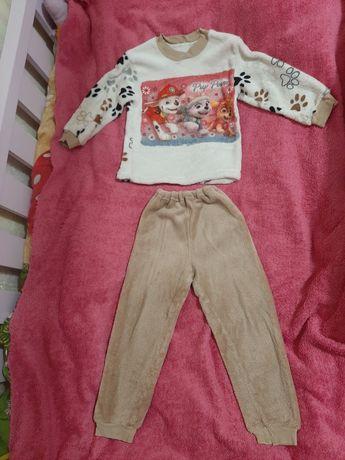 Пижама костюм меховая теплая Щенячий патруль, для двойни или близнецов