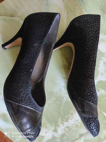 Туфли женские паленый велюр