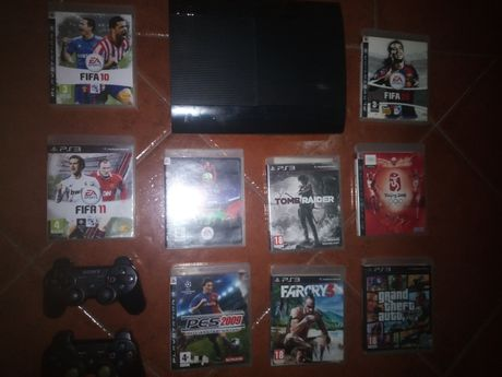 Consola Sony PS3 PlayStation 3, Slim,pouco uso,jogos e acessórios