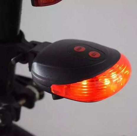 Dispositivo 2 Lasers vermelhos de projeção e luz vários modos traseiro