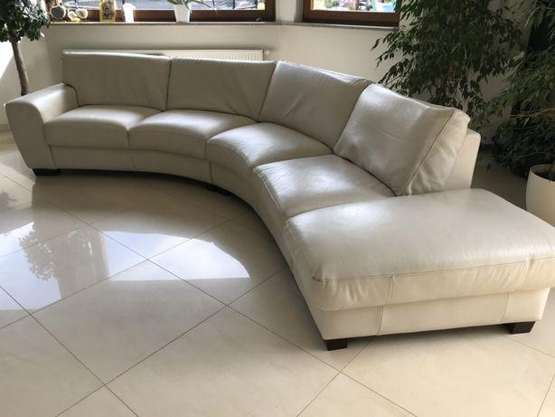 wypoczynek duży sofa Skóra naturalna