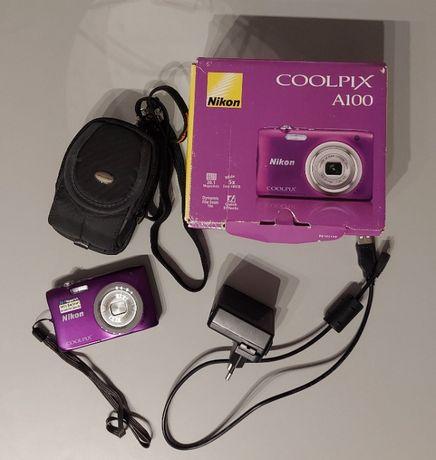 Aparat cyfrowy Nikon Coolpix A100 fioletowy +akcesoria