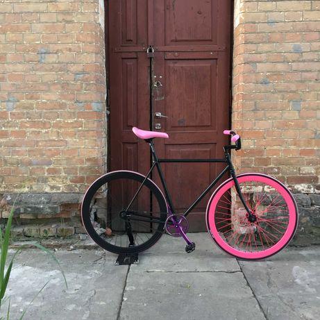 BALUMA Rower miejski Single speed Torperdo retro 50 różowy