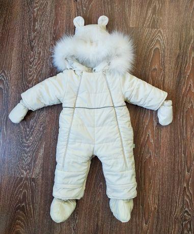 Детский зимний комбинезон-трансформер